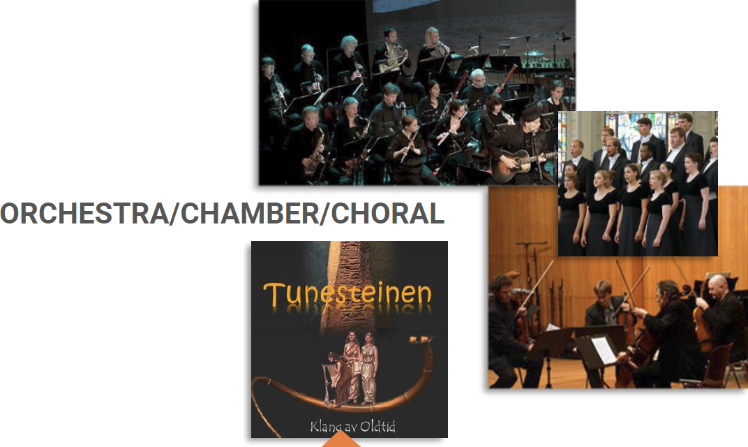 Range orchestra/chamber/choral